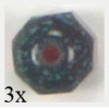 Glass Cut Bead Round 8mm Siam Ruby - Strung